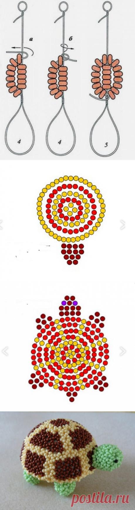 Черепашка из бисера: как сплести? Схемы и фото | Domigolki.ru