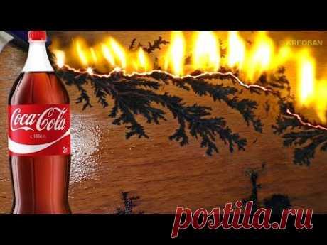 Coca Cola+Mikrowelle / Was kann eine Mikrowelle anstellen/ Lichtenberg-Figur - YouTube