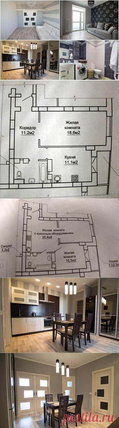 Перепланировка однокомнатной квартиры в двухкомнатную. Чертеж