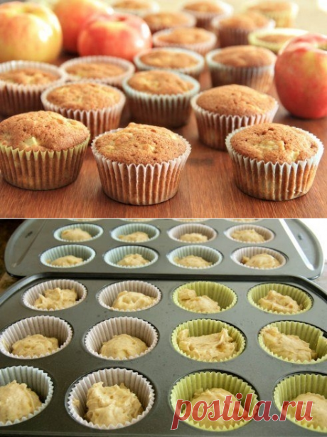How to make apple and banana muffins. - recipe, ingredients and photos