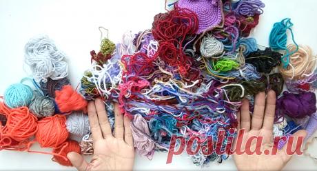 Утилизирую обрезки пряжи. Вяжу из обрезков носки. | Handmade для всех | Яндекс Дзен