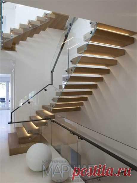 Изготовление лестниц, ограждений, перил Маршаг – Консольной лестницы ограждение со стеклянными