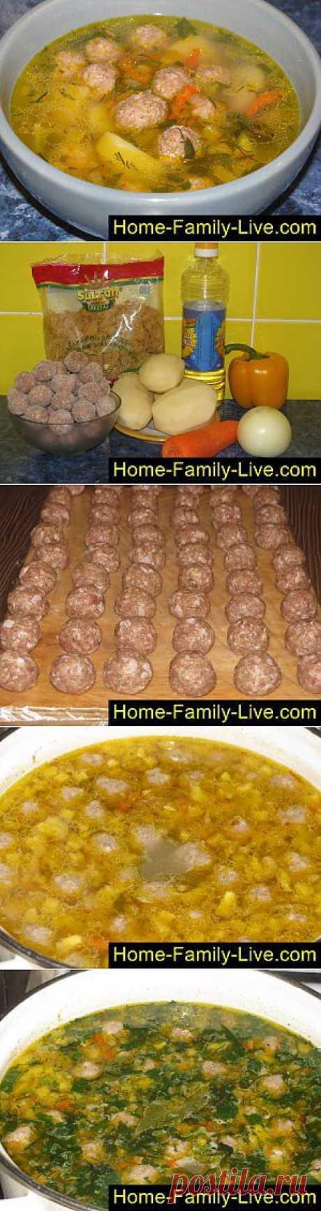 Кулинарные рецепты Суп с фрикадельками - пошаговый фоторецепт - быстрый суп с фрикадельками