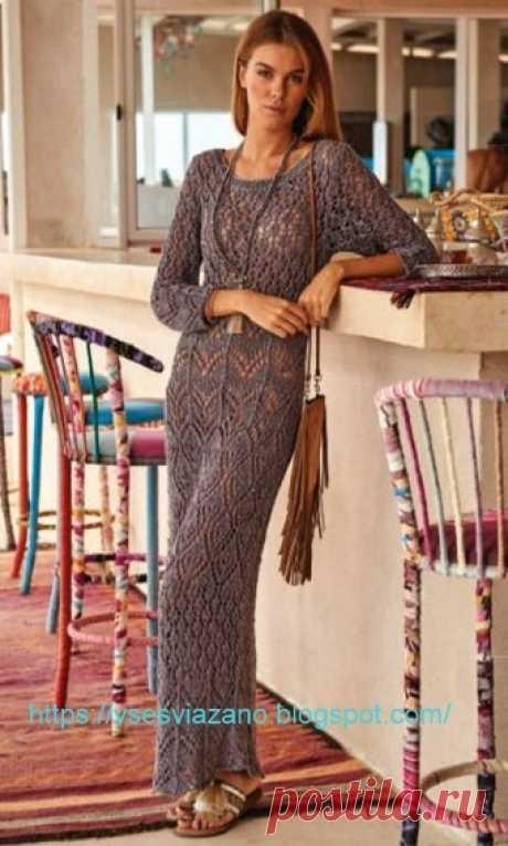 ВСЕ СВЯЗАНО. ROSOMAHA.: Ажурное платье макси: свяжи для отдыха и радости!
