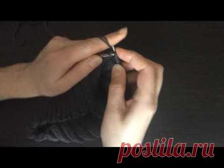 Нюансы вязания отворота шапки - YouTube