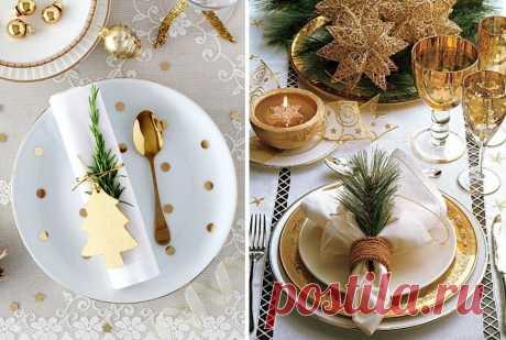 Идеи красивой сервировки стола на новый год — Сделай сам, идеи для творчества - DIY Ideas