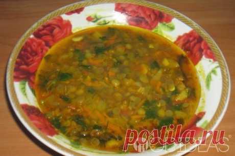 Суп из зеленой чечевицы - рецепт приготовления с фото