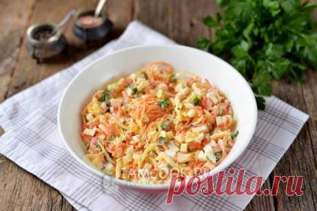 Салат «Валерия» — рецепт с фото пошагово. Как приготовить салат «Валерия» с крабовыми палочками и корейской морковкой?