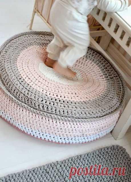 Необычные идеи для вязания из трикотажной пряжи
