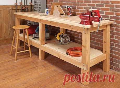 Деревянный верстак в гараж своими руками — просто и доступно Владельцы гаражей нередко задействуют это помещение не только по прямому назначению, но и в качестве мастерской. Для работы с различными материалами либо