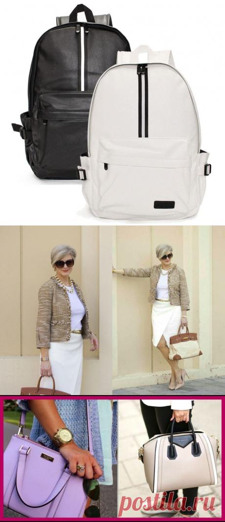 Модели рюкзаков и модных сумок для женщины 50 лет