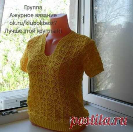 Ажурный пуловер | Клубок