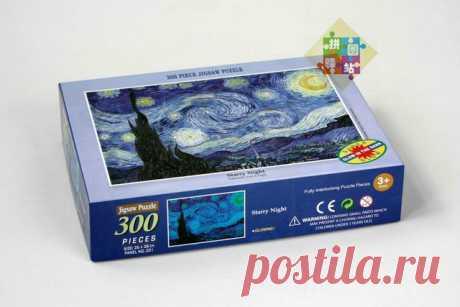 """Пазлы, светящиеся в темноте: Винсент ван Гог. """"Звездная ночь"""". 300 шт. (на AliExpress)"""