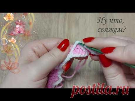 🍨💕НЕЖНАЯ ЗЕФИРКА! Новинка !Узор крючком (подробно, для начинающих)./New crochet pattern for details.