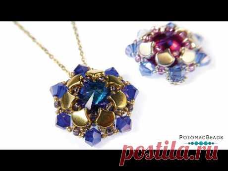 Hope Pendant - DIY Jewelry Making Tutorial by PotomacBeads