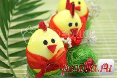 Яйца «Пасхальные цыплятки» - . Пасхальные рецепты
