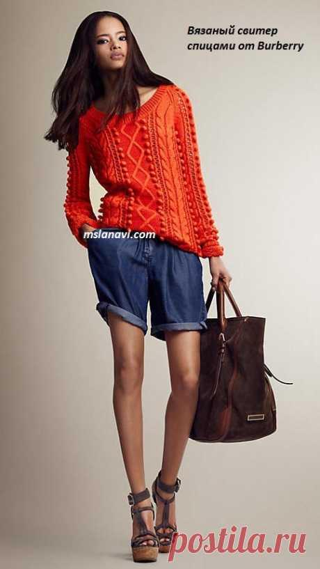 Вязаный свитер спицами | Вяжем с Лана Ви