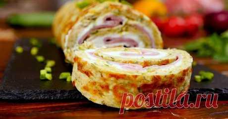 Кабачковый рулет с ветчиной и сыром - Со Вкусом