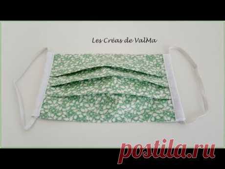 """Masque de protection pour le visage """"réversible"""" - Tuto couture ValMa"""