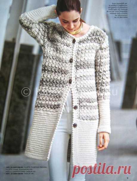 Вязанное пальто | Вязание для женщин | Вязание спицами и крючком. Схемы вязания.