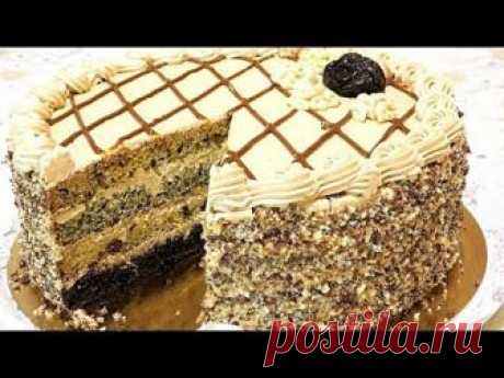 """Торт """"ДАМСКИЙ КАПРИЗ"""" Вкусный домашний торт на сметане."""
