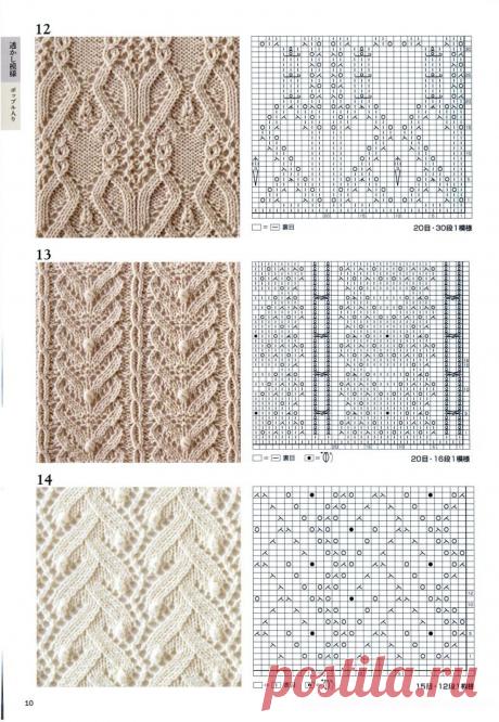 Японские узоры спицами - запись пользователя marana(Наташа) (Наталья( ко мне на ты)) в сообществе Вязание спицами в категории Вязание для женщин спицами. Схемы вязания спицами
