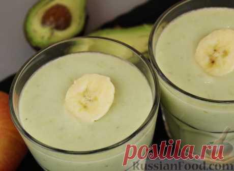 Рецепт: Смузи из авокадо, банана, яблока и винограда на RussianFood.com