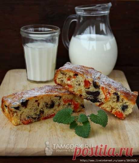 Восхитительно вкусный, ароматный и воздушный пирог с курагой и черносливом на апельсиновом соке