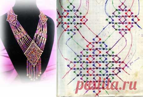 Колье нарядное и богатое / Колье, бусы, ожерелья / Biserok.org