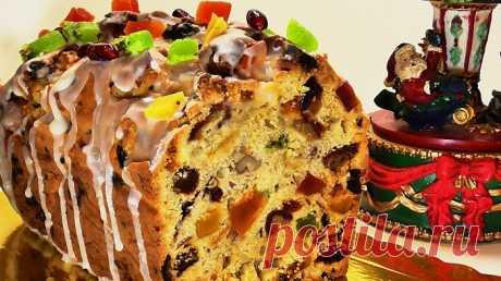 Изумительно вкусный, необычайно красивый, ароматный кекс с изюмом и сухофруктами! Простой пошаговый рецепт приготовления рождественского кекса с сухофруктами и изюмом.