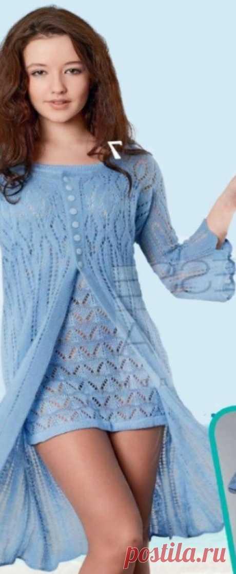 Платье и жакет спицами
