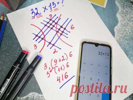 Узнал как японских детей учат умножать числа с помощью рисунка, даже таблицу умножения знать не нужно | Поделкин | Яндекс Дзен