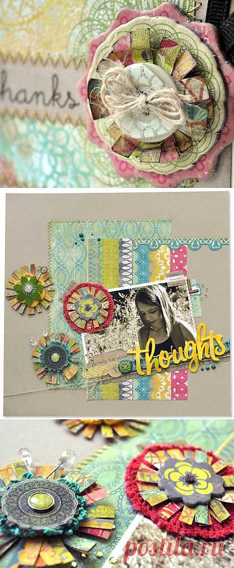 Flower Embellishments from Scraps :: Amy Heller - Crate Paper