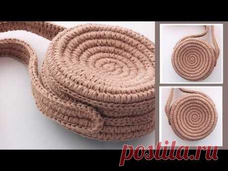 Сумка-печенька из доступных материалов. Эко вязание из джута | Nadezhda Lab