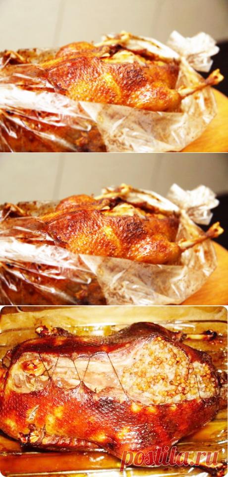 Утка в рукаве - Рецепты утки в рукаве - Как правильно готовить утку в