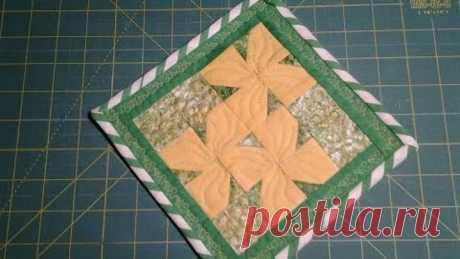 Лоскутное шитье Прихватка Цветы