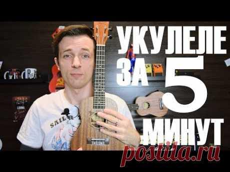 УКУЛЕЛЕ ЗА 5 МИНУТ! УРОК ПРОЩЕ НЕКУДА! - YouTube