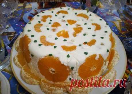 Желейный фруктовый торт с апельсинами и мандаринами - пошаговый рецепт с фото. Автор рецепта Наталья Меньщикова . - Cookpad