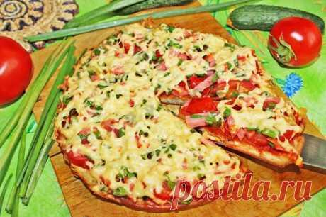 Быстрая пицца на кефире без сметаны на сковороде рецепт с фото пошагово