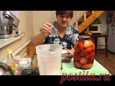 """Помидоры """"без попок"""".Как консервировать помидоры на зиму."""
