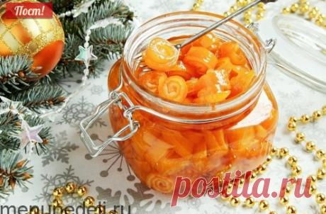 Рецепт апельсиновых цукатов в сиропе / Меню недели