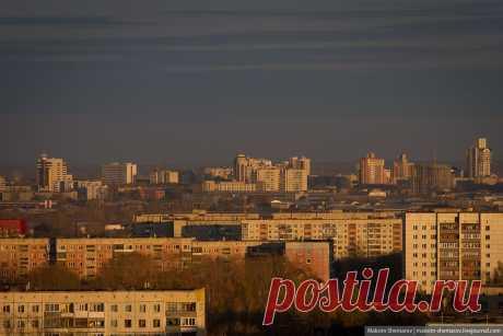 Барнаул Вид на центр из спальных районов. Один из новых строящихся кварталов
