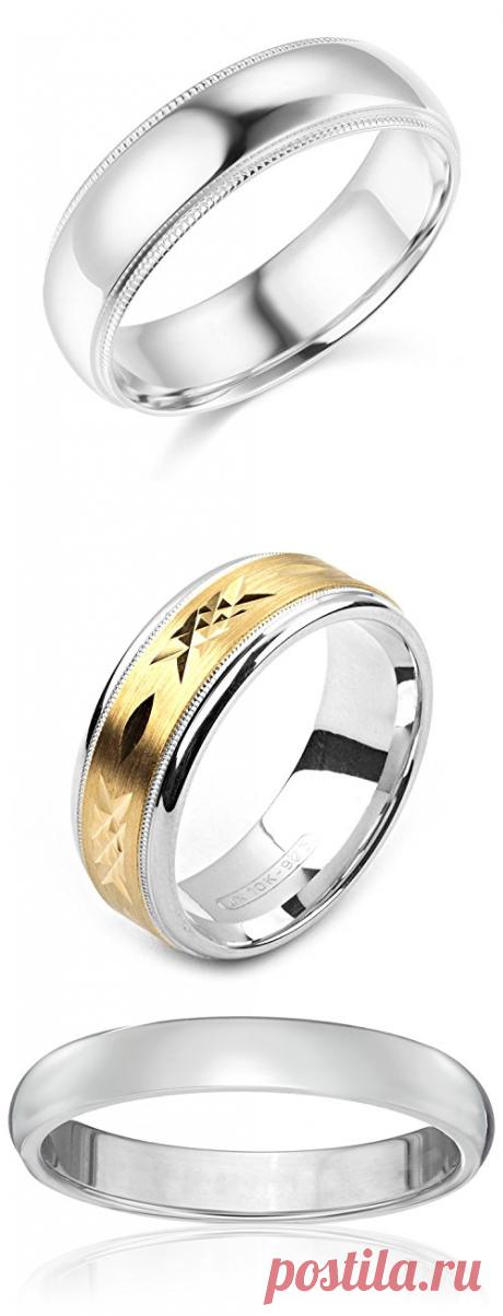 Anel de casamento de tungstênio com acabamento escovado dourado com bordas chanfradas de 6 mm de largura • Obtenha joias da moda
