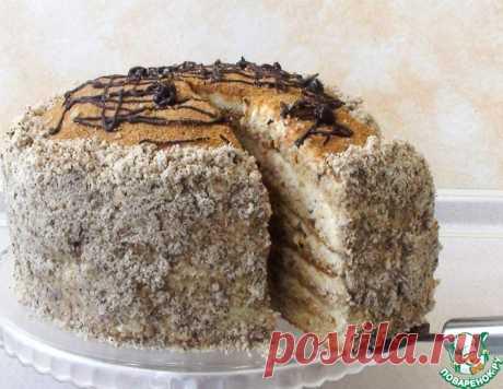"""Торт """"Медовик"""" с яблочным кремом – кулинарный рецепт"""