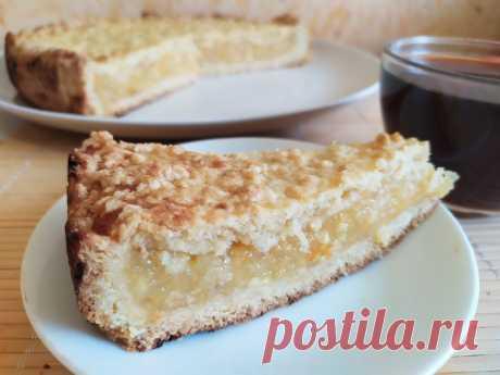 Яблочно-цитрусовый пирог. Тесто для этого пирога гармонирует абсолютно с любыми фруктами и ягодами.