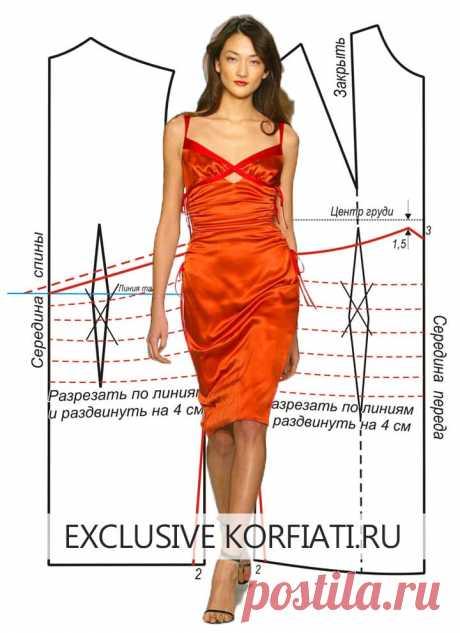 Выкройка летнего сарафана от А. Корфиати Выкройка летнего сарафана. Красный цвет – для смелых женщин. Этот шикарный ярко-красный летний сарафан - лучшее тому доказательство. Выкройка сарафана...