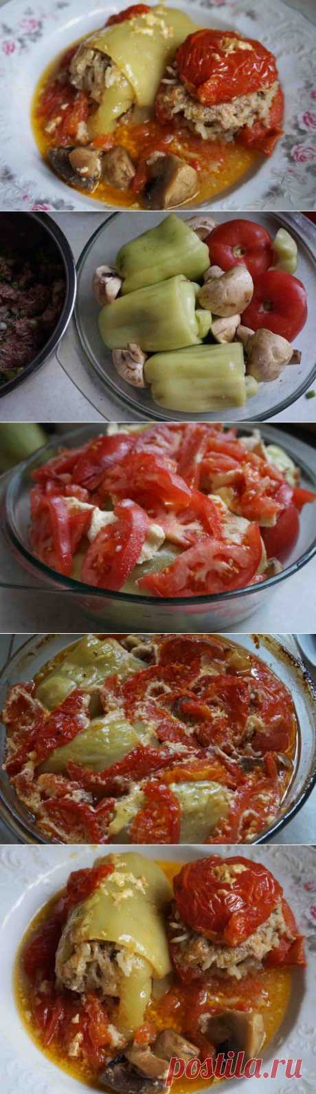 Фаршированные перцы и помидоры   Давай поговорим