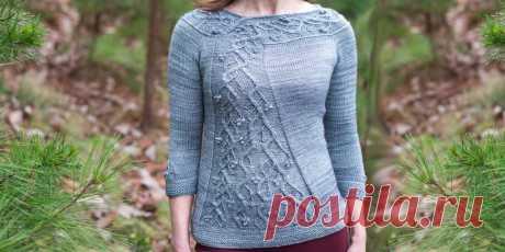 Красивый пуловер спицами Winterberry - Вяжи.ру