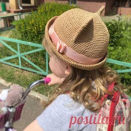 Котошляпка из рафии (Вязание крючком) – Журнал Вдохновение Рукодельницы