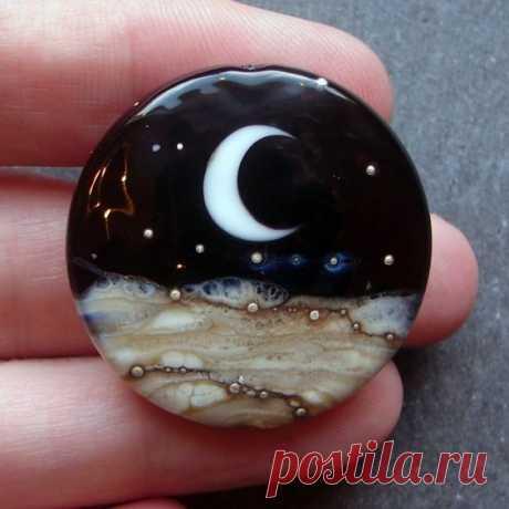 Lampwork beads 1313 Focal (1) Midnight